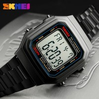 Jam tangan wanita skmei original anti air model casio segi kotak