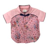 Mosfit Bruce Top Pink Flower Cheongsam Baju Atasan Anak Laki Laki