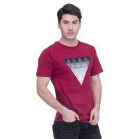 Baju Kaos Tshirt Pria Seyes Man 1025 Katun Carded Maroon Premium