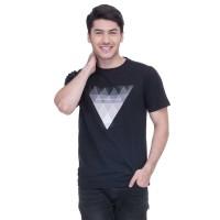 Baju Kaos Tshirt Pria Seyes Man 1025 Katun Carded Hitam Premium