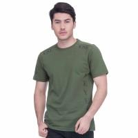 Baju Kaos Pria Lengan Pendek Seyes 1024 Katun Carded Hijau Premium