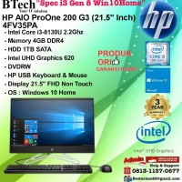 HP AIO ProOne 200 G3 AiO - 4FV35PA Core i3-8130U/4GB/1TBW10Home/3YR