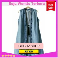 Outer Wanita Long Outer Jeans Outerwear Jeans