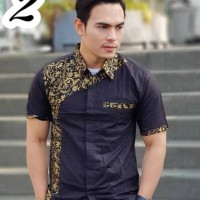 Harga batik kampus manly kemeja pria lengan pendek kombinasi model | antitipu.com