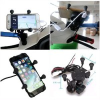 Universal Mount Holder Smartphone X GRIP for Motorcycle Plus C Murah