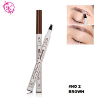 Brown 02 - Fine Sketch Liquid Eyebrow Music Flower Pen Waterproof