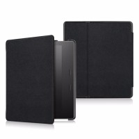 Amazon Kindle Oasis 7 eBook Folio Magnetic Leather Cover Case Black