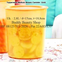 Medium Mosaic Canister 1pcs Gold Toples Cantik