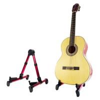 [terlaris| Stand Gitar Lipat Akustik dan Gitar Bass Giant GS-10 Merah