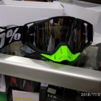 kacamata cross 100 % Goggle Hitam