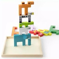 Mainan PUZZLE ANAK 3D SUSUN BINATANG/CREATIVE ANIMAL BLOCK PUZZLE