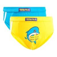 ( 1 pck isi 2 pcs ) celana dalam anak laki laki TEVA FILO 608