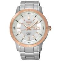 Jual jam tangan ori Seiko 5 SNKN56K1 Automatic Silver Ring Rosegold Murah