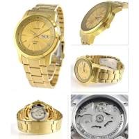Jual jam tangan ori Seiko 5 SNKM94K1 Automatic Gold Stainless Steel Mens Murah
