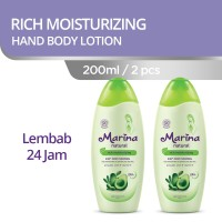 Marina Natural Hand and Body Lotion [200 mL/2 Pcs] - Rich Moisturizing