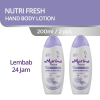 Marina Natural Hand and Body Lotion [200 mL/ 2 Pcs] - Nutri Fresh
