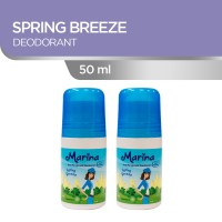 Marina Anti Pespirant Deodorant [50 mL/ 2 pcs] Spring Breeze
