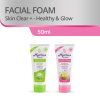 Marina Facial Foam [50 mL/2 Pcs] - Green and Pink