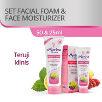 Marina Set Facial Foam 50 mL and Face Moisturizer 25 mL