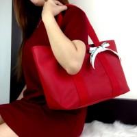 tas batam/tas import/tas wanita LACOSTE Street Zipper Bag VLC L001