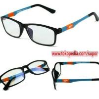 Frame kacamata Kateluo + Lensa Leinz Progresif Starter 2 Supertrans 3