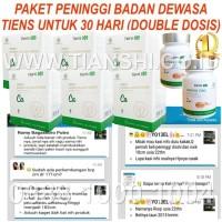 Paket Dewasa 30 Hari Double Dosis Peninggi Badan Kalsium Zinc Tiens