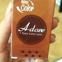 Harga adore brown softlens 1 tone color lens no | antitipu.com