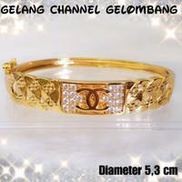 Xuping/perhiasan lapis emas gelang bangkok dewasa channel gelombang