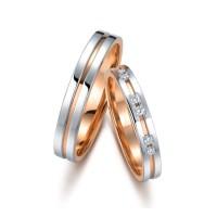 Tiaria 18K Sweet Trinity Wedding Ring Perhiasan Cincin Pernikahan
