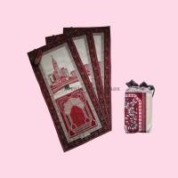 Sajadah Travel Grosir Motif Shofa Merah 0852-2765-5050