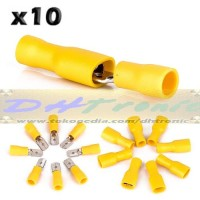 x10 Skun Blade Yellow Crimp Connector Penyambung Kabel Warna Kuning