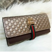 DOMPET CLUTH Guccii Tena 2 sisi size bahan embos taiga TRENDY