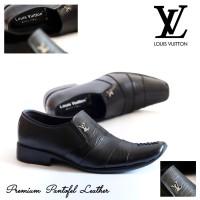 Sepatu Pantofel Kulit Asli Louis vuitton terbaru formal pria