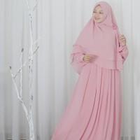 hijab alila gamis neo alexandria soft pink ceruti new qisara furing