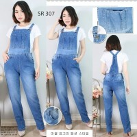 Real Picture Overall Celana Kodok Jumpsuit Jeans Import Stretch M L XL