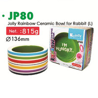 JP80 Jolly Rainbow Ceramic Bowl Large Tempat Makan Keramik Kelinci