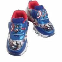 Sepatu LED AVENGER Warna Biru Sepatu Sporty Anak Laki-laki Impor