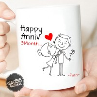 Sablon Cetak Mug Custom Satuan Premium / Kado Unik Romantis - Anniv 3