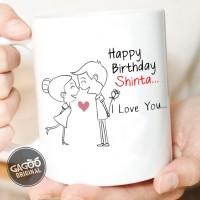 Kado Anniversary Custom / kado unik ulang tahun romantis - Anniv Kiss