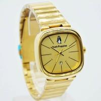 jam tangan cewe hush puppie rante gold hitam tanggal