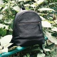 Gammara Leather Backpack - Anabanua (Black)
