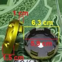 Dop Center As Velg Exe Sport Gold Hitam Model Racing Diameter Kaki 5