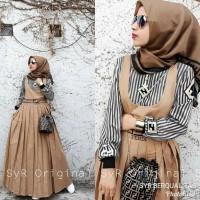 Baju Gamis Setelan Muslim Wanita - Fendi Set 2in1 - Baju Pesta Murah