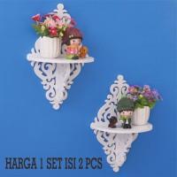 Harga decorative rack rak shabby chic vintage 1 set isi 2 | antitipu.com