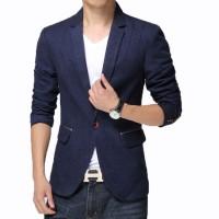 Fashion Pria - Jas Blazer Blue Glitter Cool Korean Style