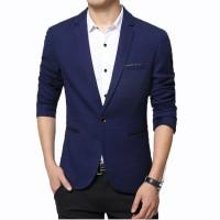 Fashion Pria - Jas Pria Cool Blue Elegant Korean Style