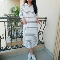 Murah OTIN FASHION BAJU DRESS WANITA GODIVA HOODIE SALUR konv
