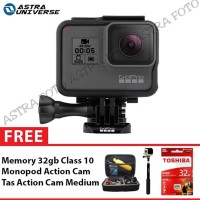 GoPro Hero 5 Black Edition Free Tongsis Memory 32gb Tas Medium