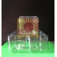 Toples Kue Bentuk Kotak Plastik Mika/ Vici