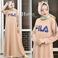 Best Seller HOT PROMO Baju Gamis Muslim Fila Haiza dress